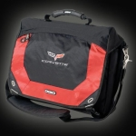 E15692 BAG-OGIO C6 CORVETTE COMPUTER MESSENGER BAG-BLACK-FIRE