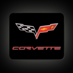 E15714 MOUSE PAD-C6 CORVETTE FLAG