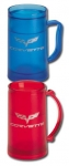 E15747 MUG-C6 CORVETTE ICE MUG-16 OZ.-BLUE OR RED