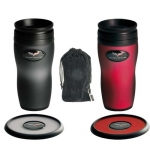 E15749 MUG-C6 CORVETTE SOFT TOUCH TUMBLER SET-SMOKE OR RED