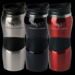 E15760 MUG-GRAND SPORT CORVETTE MAUI GRIPPER TUMBLER-SILVER, BLACK OR RED