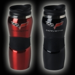 E15762 MUG-C6 CORVETTE STAINLESS-BLACK OR RED