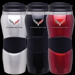E15824 TUMBLER-C7 CORVETTE MAUI GRIPPER-BLACK, RED OR SILVER