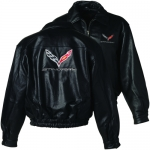 E15886 JACKET-MENS-STINGRAY LEATHER BOMBER-BLACK