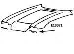 E16071 BONDING STRIP-UPPER HEADLAMP OPENING-PRESS MOLDED-WHITE-LEFT HAND-58-62