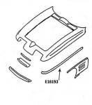 E16193 BONDING STRIP-UPPER FENDER-PRESS MOLDED-BLACK-LEFT HAND-67