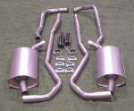 E1661M EXHAUST SYSTEM-ALUMINIZED-2 INCH-SMALL BLOCK- MANUAL-68-72
