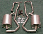 E1663 EXHAUST SYSTEM-ALUMINIZED-2 TO 2.5 INCH-SMALL BLOCK-AUTOMATIC-68-72
