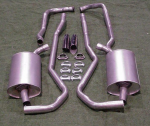 E1665 EXHAUST SYSTEM-ALUMINIZED-2 TO 2.5 INCH-SMALL BLOCK-MANUAL-68-72