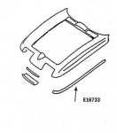 E16733 BONDING STRIP-UPPER FENDER-HAND LAYUP-GRAY-LEFT HAND-63-66