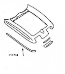 E16734 BONDING STRIP-UPPER FENDER-HAND LAYUP-GRAY-RIGHT HAND-63-66