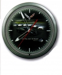 E17079 CLOCK-NEON-20-CORVETTE WITH CARS-C1THROUGH C7