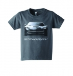 E17107 SHIRT-STINGRAY FRONT VIEW TEE SHIRT-KIDS-CHARCOAL