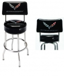 E17219 STOOL-C7 CORVETTE STINGRAY COUNTER STOOL WITH BACK-3 HEIGHTS