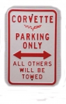 E17259 SIGN-C6 CORVETTE PARKING