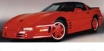 E18091 BODY KIT-WIDE-FIBERGLASS-HAND LAYUP-STALKER-CONVERTIBLE-91-96