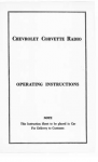 E18572 BOOKLET-RADIO INSTRUCTIONS-EACH-53-57