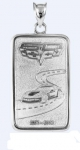 E18837 JEWELRY-INGOT-.925 STERLING SILVER-3.79 (DWT) PENNYWEIGHT-CORVETTE 60TH ANNIVERSARY