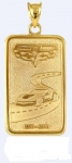 E18845 JEWELRY-INGOT-14K GOLD PLATE OVER .925 STERLING SILVER-CORVETTE 60TH ANNIVERSARY