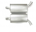 E19786 MUFFLER-STAINLESS STEEL-LOUD-2.5 INCH-PAIR-63-67