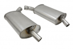E19764 MUFFLER-ALUMINIZED-OFF ROAD-2.5 INCH-3 CHAMBER-PAIR-68-72
