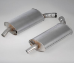 E19784 MUFFLER-STAINLESS STEEL-2.5 INCH-PAIR-63-67