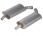 E19788 MUFFLER-STAINLESS STEEL-OFF ROAD-2 INCH-3 CHAMBER-PAIR-63-67