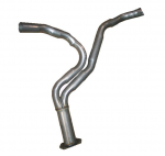 E19819 PIPE-EXHAUST-REAR-Y PIPE-ALUMINIZED-2.5 INCH-82
