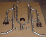 E19941 EXHAUST SYSTEM-CHAMBERED-ALUMINIZED-2.5 INCH-WITH STAINLESS STEEL TIPS-84-91