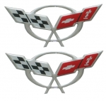 E19960 EMBLEM / DECAL-DOOR SILL 3D DOMED-PAIR-97-04