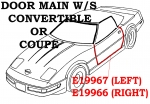 E19966 WEATHERSTRIP-DOOR MAIN-COUPE OR CONVERTIBLE-USA-RIGHT-97-04