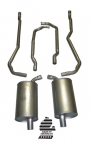 E19991 EXHAUST SYSTEM-ALUMINIZED-2 INCH-SMALL BLOCK-MANUAL-73
