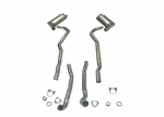 E20004 EXHAUST sYSTEM-ALUMINIZED-2.5 INCH-BIG BLOCK-454-MANUAL-70-72