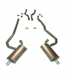 E20007 EXHAUST SYSTEM-ALUMINIZED-2.5 TO 2 INCH-BIG BLOCK-427-AUTOMATIC-69