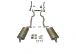 E20015 EXHAUST SYSTEM-ALUMINIZED-2.5 INCH-SMALL BLOCK-MANUAL-63