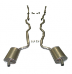 E20101 EXHAUST SYSTEM-STAINLESS STEEL-2 INCH-SMALL BLOCK-MANUAL-WELDED MUFFLER-63