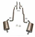E20021 EXHAUST SYSTEM-ALUMINIZED-2 TO 2.5 INCH-SMALL BLOCK-MANUAL-66-67