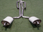 E20022 EXHAUST SYSTEM-ALUMINIZED-2 TO 2.5 INCH-SMALL BLOCK-MANUAL-WELDED MUFFLER-66-67