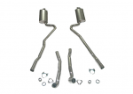 E20029 EXHAUST SYSTEM-ALUMINIZED-2.5 INCH-BIG BLOCK-454-MANUAL-WELDED MUFFLER-70-72