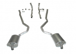 E20111 EXHAUST SYSTEM-STAINLESS STEEL-2 TO 2.5 INCH-SMALL BLOCK-MANUAL-WELDED MUFFLER-68-72