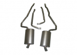 E20118 EXHAUST SYSTEM-STAINLESS STEEL-2 INCH-SMALL BLOCK-AUTOMATIC-WELDED MUFFLER-73