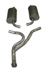 E20044 EXHAUST SYSTEM-ALUMINIZED-CAT BACK-STOCK-76-77