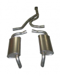 E20045 EXHAUST SYSTEM-ALUMINIZED-CAT BACK-STOCK-L48-78