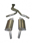 E20047 EXHAUST SYSTEM-ALUMINIZED-CAT BACK-STOCK-82