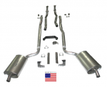 E20199 EXHAUST SYSTEM-DELUXE-2 TO 2.5 INCH-SMALL BLOCK-MANUAL-WELDED MUFFLER-66-67