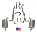 E20202 EXHAUST SYSTEM-DELUXE-2.5 INCH-BIG BLOCK-396/427-MANUAL-65-67