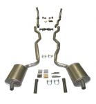 E20203 EXHAUST SYSTEM-DELUXE-2 INCH-SMALL BLOCK-MANUAL-WELDED MUFFLER-63