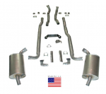 E20207 EXHAUST SYSTEM-DELUXE-2.5 INCH-BIG BLOCK-427-AUTOMATIC-66-67