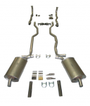 E20208 EXHAUST SYSTEM-DELUXE-2.5 INCH-SMALL BLOCK-MANUAL-63