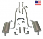 E20209 EXHAUST SYSTEM-DELUXE-2.5 INCH-SMALL BLOCK-MANUAL-64-65